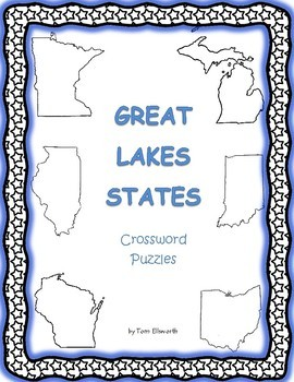 Great Lakes States Crossword Puzzles