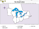 Great Lakes: The Great Lakes - Locate Places on a Map #1