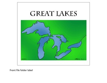 Great Lakes file folder game