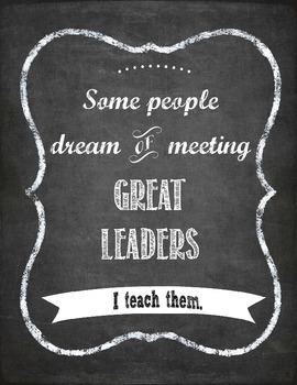 Great Leaders Chalkboard Print