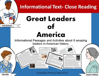 Great Leaders of America: A study of leadership using informational text