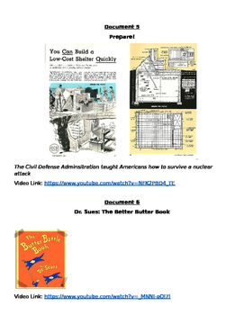 Great Lesson: Experience the Fears of the Cold War DBQ w/. pictures and videos