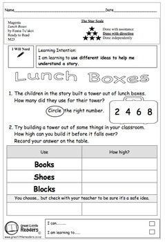 Great Little Readers - Lunch Boxes