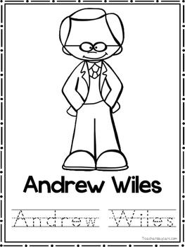 Great Mathematicians Coloring Book worksheets.  Preschool-2nd Grade