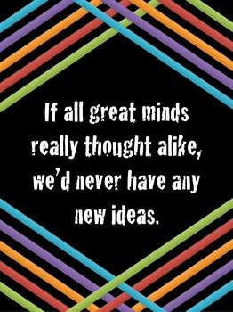 Great Minds Quote Poster