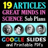 Great Minds in Science - 18 Secondary Science Literacy Sub Plans / Activities