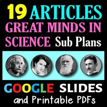 Great Minds in Science - 18 Secondary Science Literacy Sub
