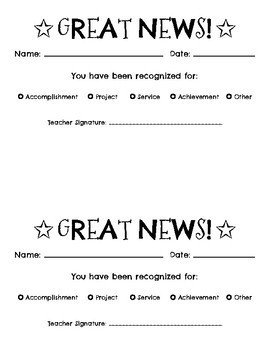 Great News Notes Communication