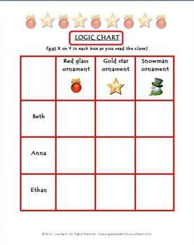 Great Ornament Caper Holiday Logic Enrichment Puzzle for PreK-K-1