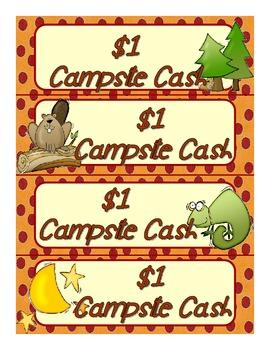 Great Outdoors Campsite Cash Reward Tokens