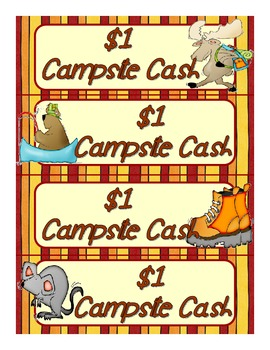 Great Outdoors Campsite Cash Reward Tokens