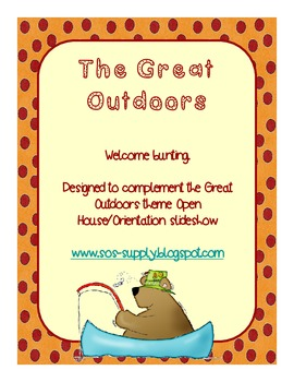 Great Outdoors Theme Welcome Bunting