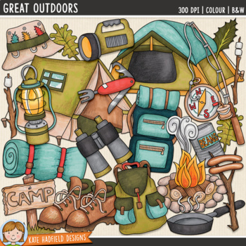 "Camping Clip Art: ""Great Outdoors"""