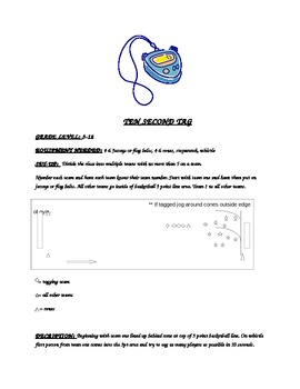Great PE warm-up or conditioning activity for elementary,