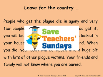 Great Plague problem-based / scenario-based Lesson plan and Resources