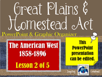 Great Plains & Homestead Act - PowerPoint & Graphic Organizer