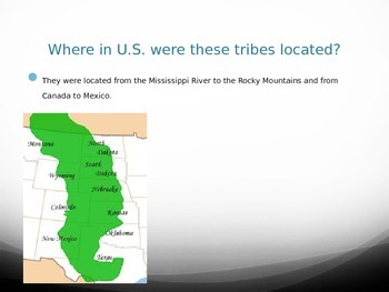 Great Plains Indian Tribes PowerPoint