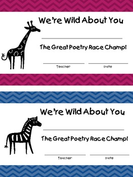 Great Poetry Race Awards