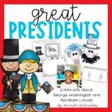 Presidents Day Activities: George Washington and Abraham Lincoln