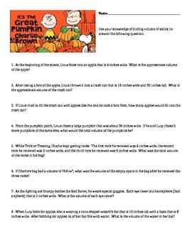 Great Pumpkin Charlie Brown - Applications of Volume