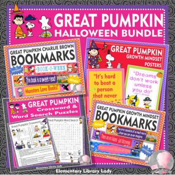 Great Pumpkin Charlie Brown Halloween Activities Decor Handouts Bookmarks BUNDLE
