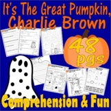 Great Pumpkin Charlie Brown Halloween Comprehension Activity Packet Lined Paper