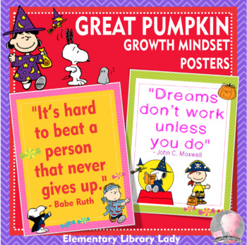 great pumpkin charlie brown halloween growth mindset posters 85x11 18x24