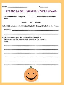 Great Pumpkin Charlie Brown: Movie Activity
