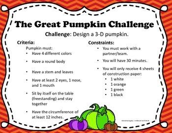 Great Pumpkin STEM Challenge