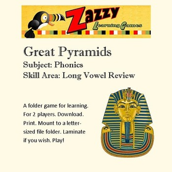 Great Pyramids Folder Game Phonics Long Vowel Review