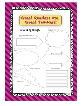 Great Readers Are Great Thinkers: Reading Strategies {Graphic Organizer}