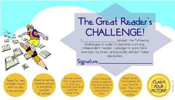 Great Reader's Challenge Punchcard Printable