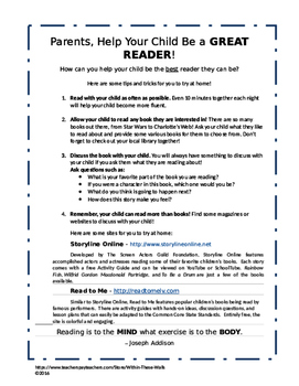 Great Readers! - Parent Letter