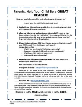 Great Readers! - Parent Letter
