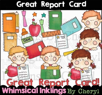 Great Report Card Clipart Collection