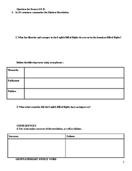 Great Revolutions Reading Packet with Graphic Organizers