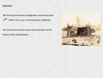 Great San Francisco Earthquake 1906 - Power Point Full History Facts Pictures