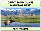 Great Sand Dunes National Park : Project Materials