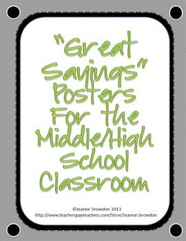 Great Quotes for Middle and High School