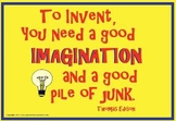 """Super Science Posters- """"To Invent..."""" Thomas Edison"""