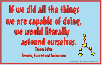 Super Science Posters-Thomas Edison Quote