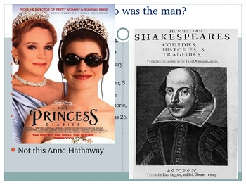 Shakespeare and the Theatre in his Time Power Point