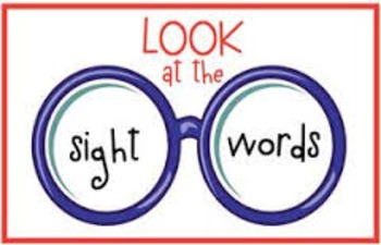 Great Sight Word Activity Packet