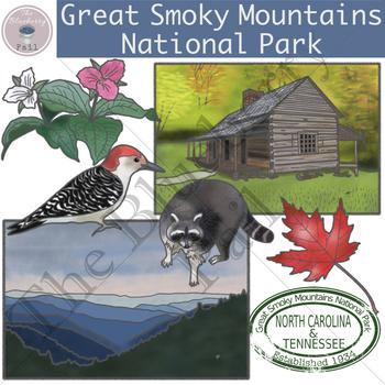 Great Smoky Mountains National Park Clip Art Set
