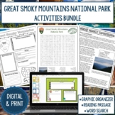 Great Smoky Mountains National Park Graphic Organizer and Word Search Bundle