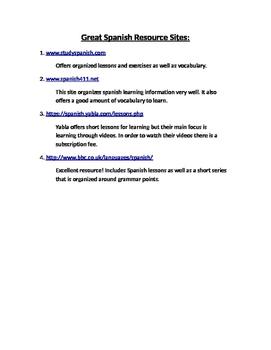Great Spanish Resource Sites