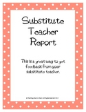 Great Substitute Teacher Feedback Form