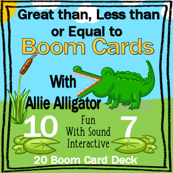 Great Than, Less Than, Equal To with Allie Alligator Boom Card Deck