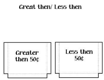 Great Then, Less Then Money Center / Money Interactive Notebook