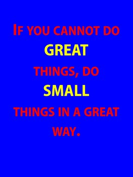 Great Things Small Things Poster